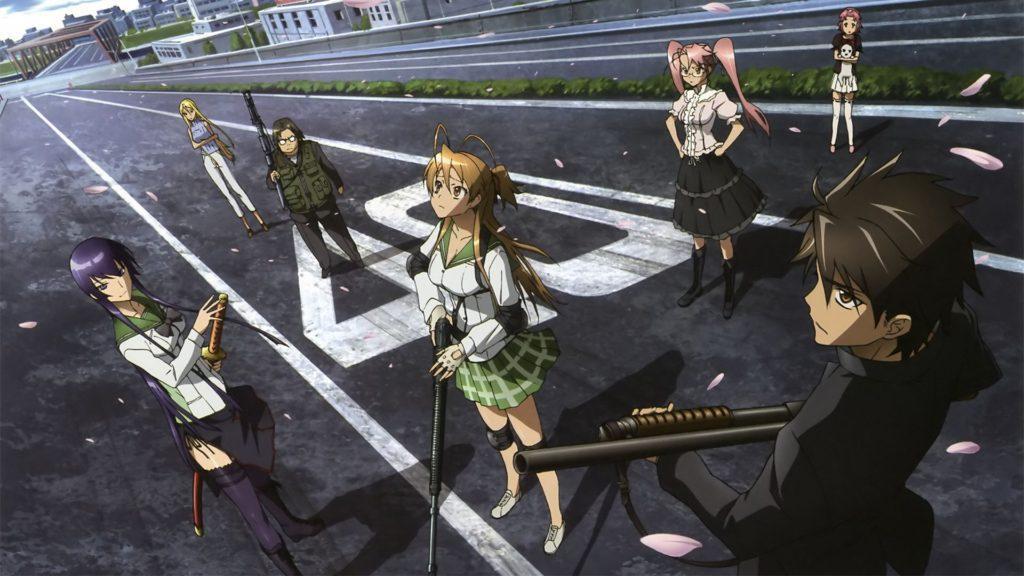 Кадры из аниме Школа мертвецов 2 сезон