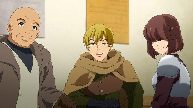 """Кадр из аниме """"Меня выгнали из гильдии героев, потому что я был плохим компаньоном, поэтому я решил неспешно жить в глуши"""""""